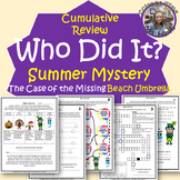 Summer Mystery- Cumulative End-of-Year Science Activity Packet