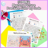 Summer Mystery Picture Color By code: No Prep Fine Motor P