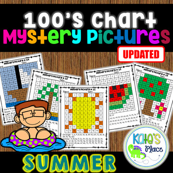 Summer Mystery Pictures 100s Chart