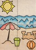Coordinate graphing- Summer Mystery Pictures