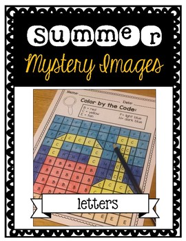 Summer Mystery Pictures: Letters