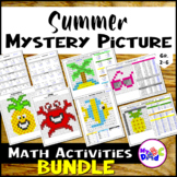 Summer Mystery Pictures Math Activities BUNDLE with TPT Easel