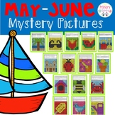 End of Year & Summer Mystery Pictures color the 100 chart
