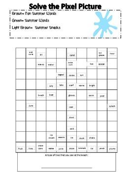 Summer Mystery Pixel Pictures Activities!