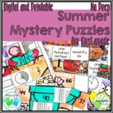 Summer Mystery Puzzles for First Grade DIGITAL & PRINTABLE
