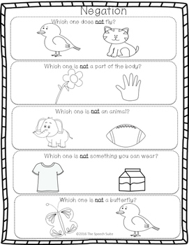 Summer NO PREP Speech and Language Pack
