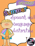 #May2018SLPmusthave Summer NO PREP Speech and Language Pack
