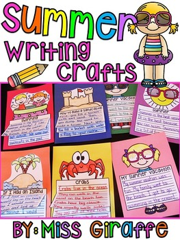 Summer Writing Craft Activities BUNDLE