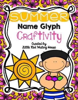 Summer Name Glyph Craftivity
