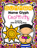 Summer Name Glyph Craftivity
