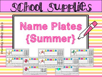 Summer Theme Name Plates