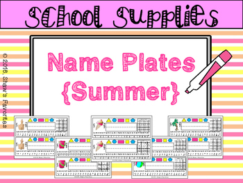 Summer Theme Name Plates
