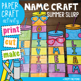 Summer Name and Word Craft Activity