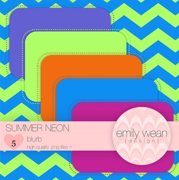 Summer Neon - Blurb FREEBIE
