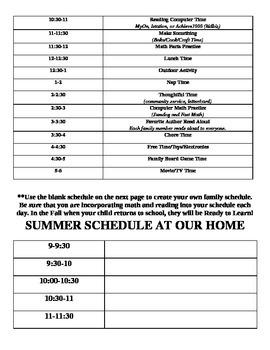 Summer Newsletter: Reading and The Summer Slide