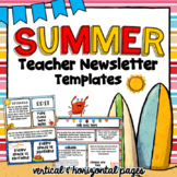 Ocean Theme Newsletter Templates | Editable | Summertime Teacher Templates