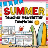 Ocean Theme Newsletter Templates   Editable   Summertime T