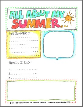 Summer Newsletter in Color and Black/White