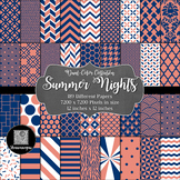 12x12 Digital Paper - Color Scheme Collection: Summer Nigh