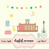 Summer Nights, Front Porch Clipart Set