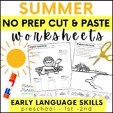 No Prep Summer Speech & Language Activities