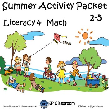 Summer No Prep Literacy and Math Activity Packet for Grade
