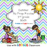 Summer No Prep Math Packet- 3rd Grade- Distance Learning-