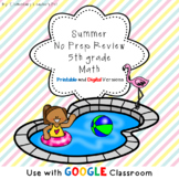 Summer No Prep Math Packet- 5th Grade