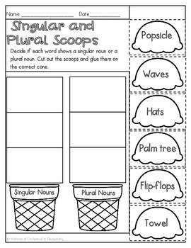Summer No Prep Math and Literacy Printables for First Grade