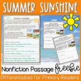 Summer Nonfiction Passage FREEBIE - Distance Learning