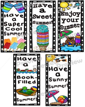 Summer Notecards and Bookmarks Set