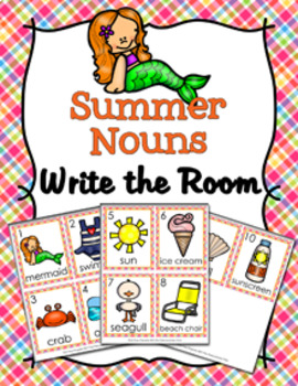 Summer Nouns Write The Room Activity