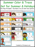 Summer Number Color and Trace Bundle