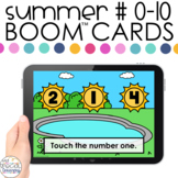 Summer Number ID 0-10 Boom™ Cards - Distance Learning for