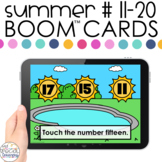 Summer Number ID 11-20 Boom™ Cards- Distance Learning for