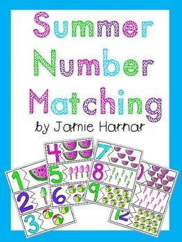 Summer Number Matching 1-20