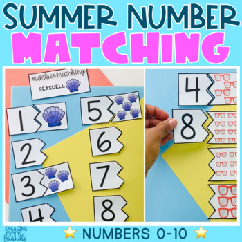 Summer Number Matching Cards (0-10)