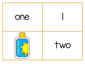 Summer Number Matching Cards