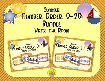 Summer Number Order 0-20 Bundle