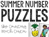 Summer Number Puzzles: Skip Counting Math Station