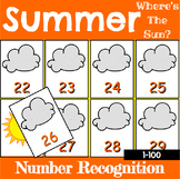 Summer Number Recognition Center or Whole Group Game