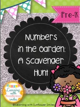 Summer Number Scavenger Hunt in the Garden