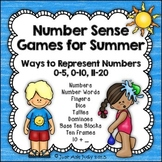 Number Sense Games Summer 0-5, 0-10, 11-20