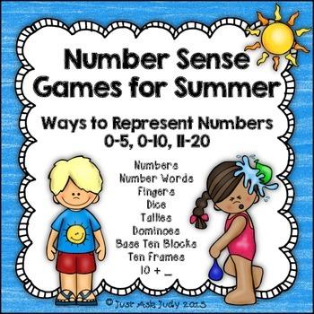 Number Sense Games Summer 0-5, 0-10, 11-20