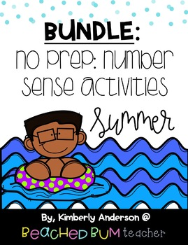 BUNDLE: Summer Number Sense Mental Math: Differentiated (3 Products)