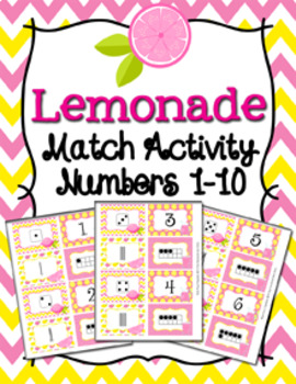 Summer Numbers 1-10 Match Activity Bundle