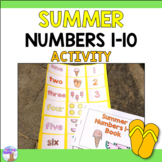 Summer Numbers 1-10 Reader and Activity