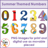 Summer Themed Numbers