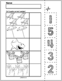 Summer Objects Cut & Match Worksheets   Numbers 1-5