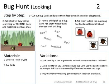 Summer Looking & Listening Skills - SUMMER DETECTIVE (Occupational Therapy)